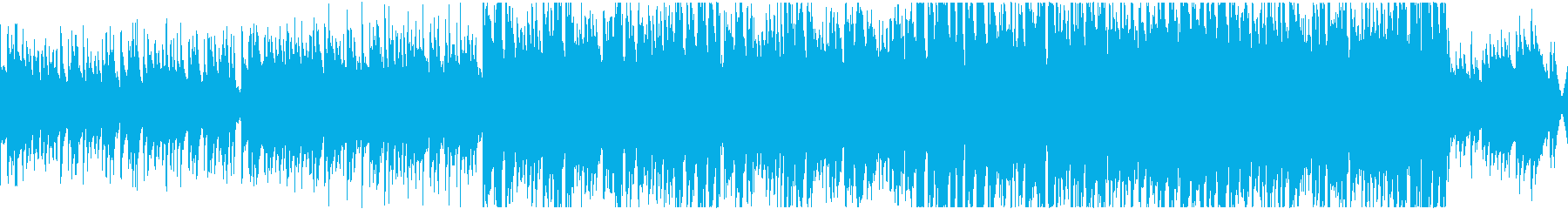 アコギから盛り上がるループ曲の再生済みの波形
