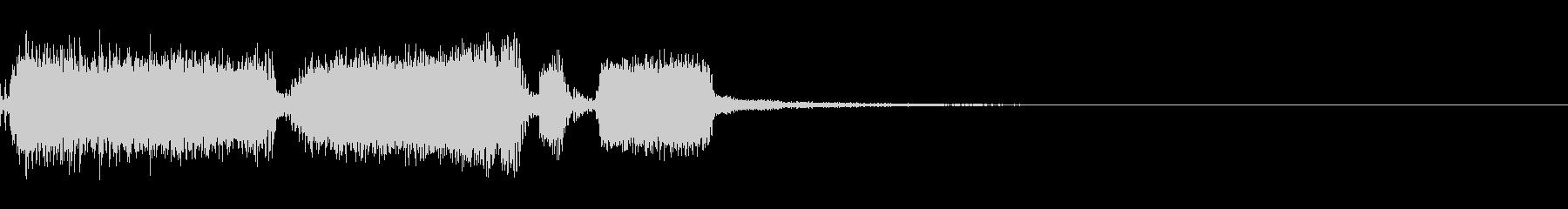 エレキ一本によるキメシーンメタルジングルの未再生の波形
