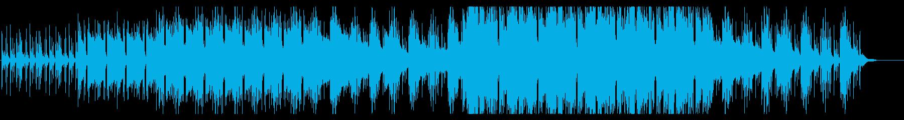 緊迫した場面に使えるパーカッシブなBGMの再生済みの波形