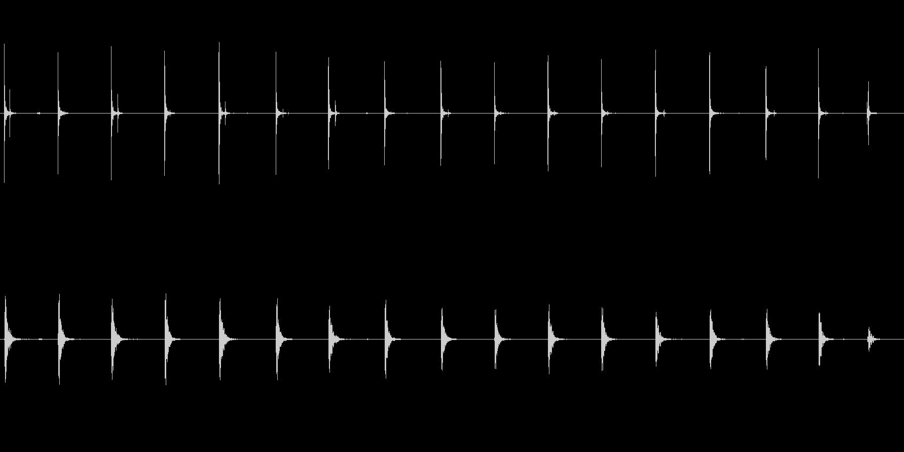 ウッドフロア:カウボーイブーツ:ゆ...の未再生の波形