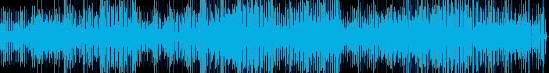 軽快なギターのポップロックの再生済みの波形