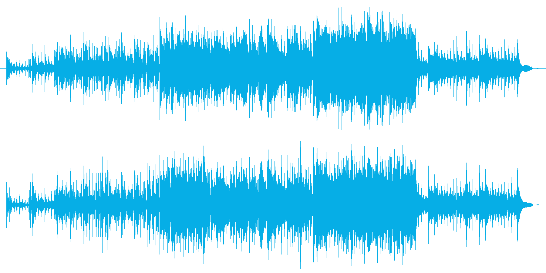 やさしくて心地よいピアノメロディーの再生済みの波形