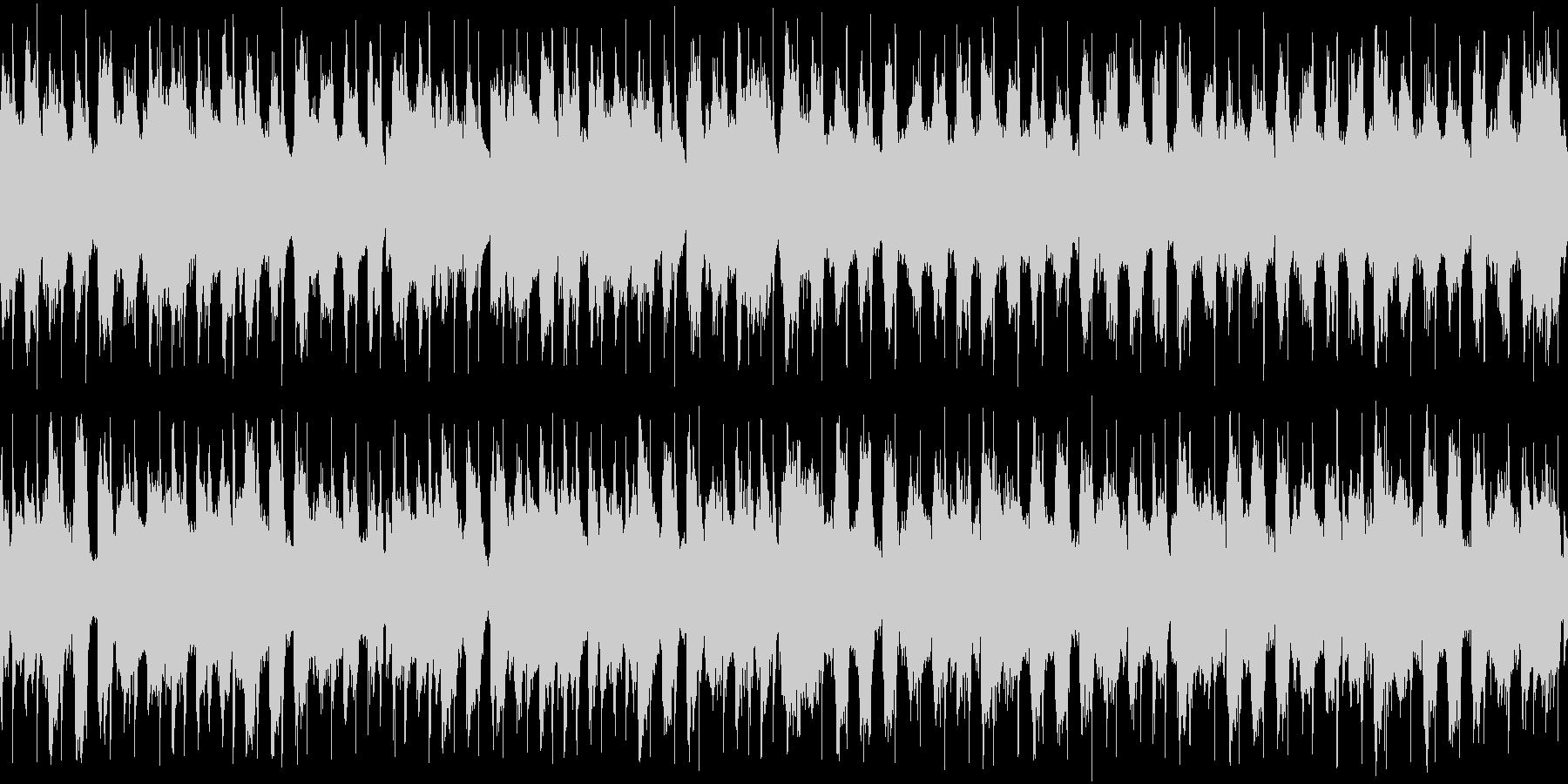 次のステージ開始までの待機BGMの未再生の波形