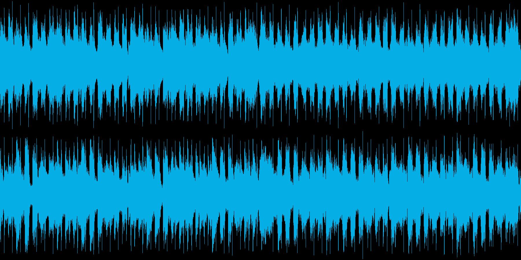 次のステージ開始までの待機BGMの再生済みの波形