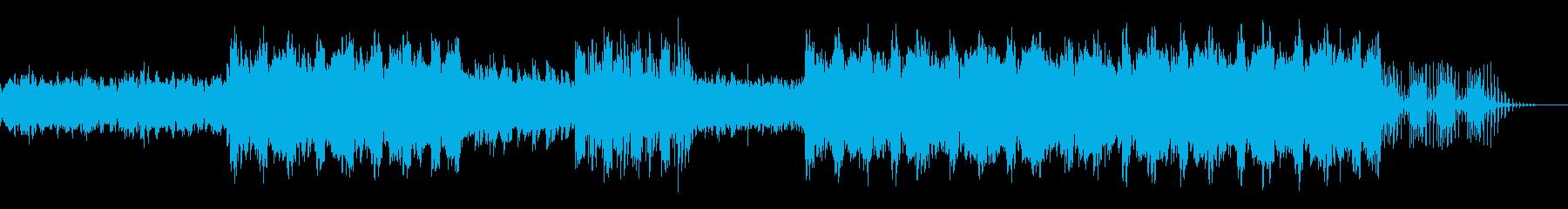 ミステリアスな雰囲気のエレクトロサウンドの再生済みの波形