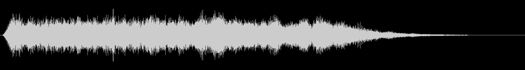 シンセサイザーのジュワーンとした音の未再生の波形