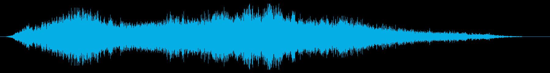 ホラー:レビテートスペルの再生済みの波形