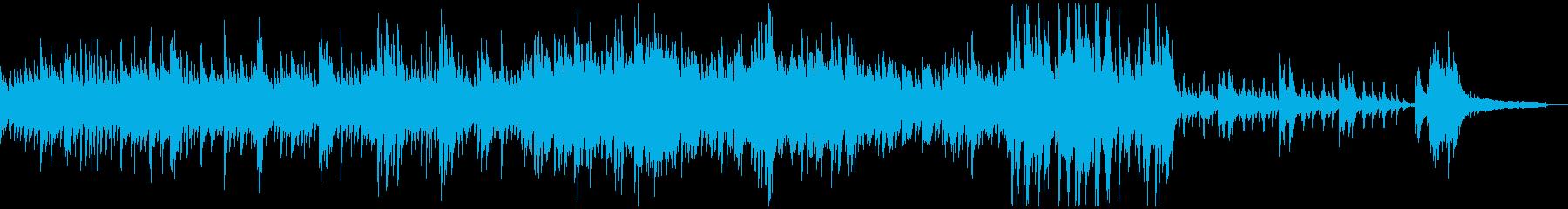 キラキラしたフレッシュなピアノソロの再生済みの波形
