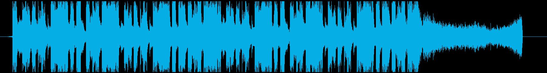デジタルサウンドで近未来的なEDMの再生済みの波形