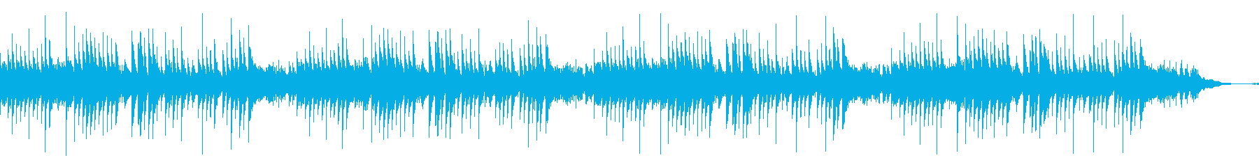 「夕焼け小焼け」 オルゴールの再生済みの波形