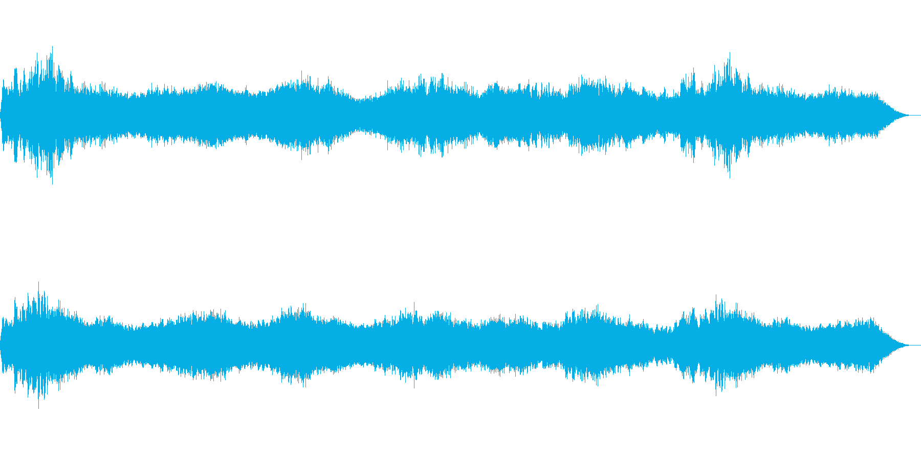 暗く重い環境音の再生済みの波形