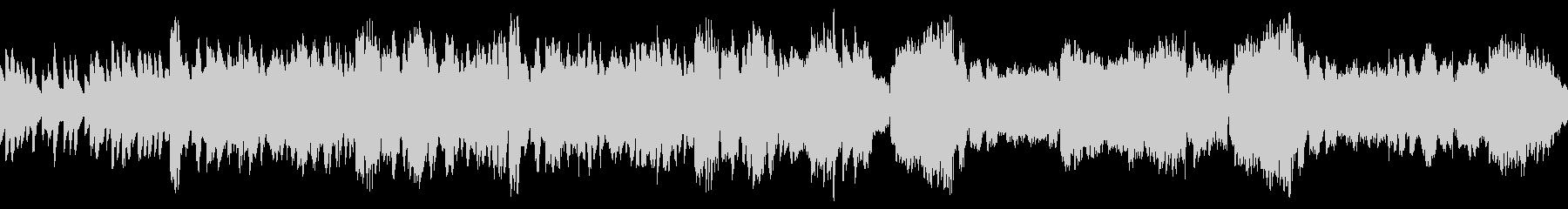 ループ可能な優しいフルートのBGMの未再生の波形