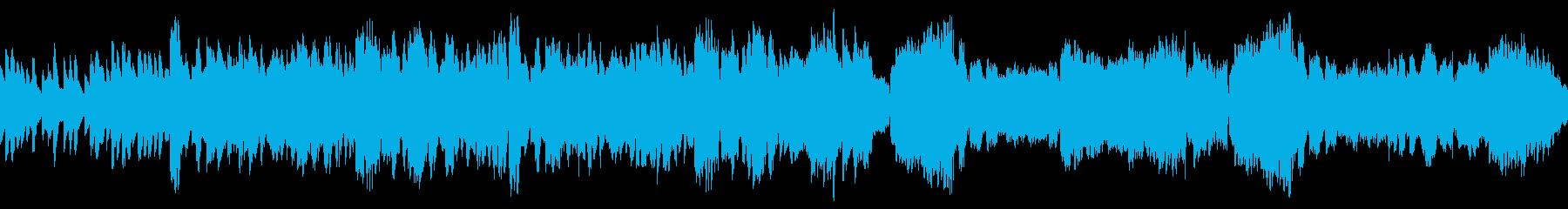 ループ可能な優しいフルートのBGMの再生済みの波形
