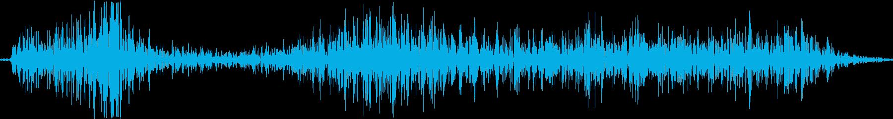 ディギシ。殴る音の再生済みの波形