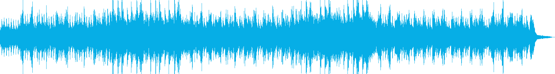 海の中をイメージしたソロピアノの再生済みの波形