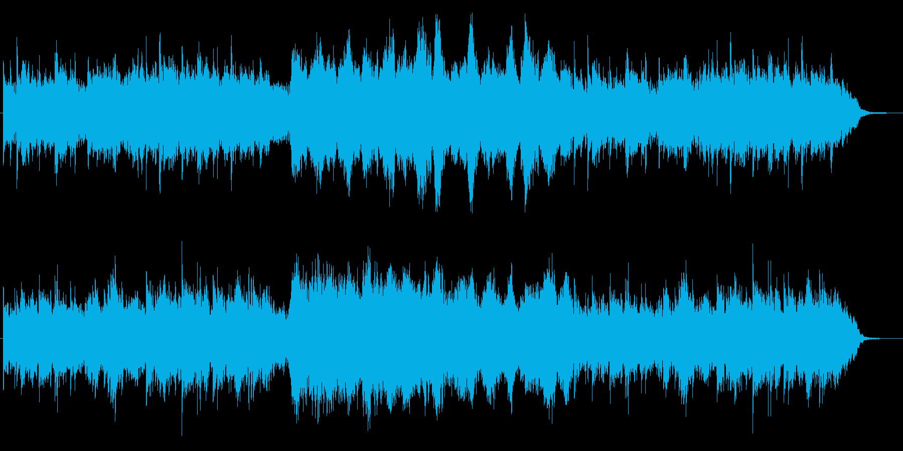 神秘的な空模様を表現したヒーリングの再生済みの波形
