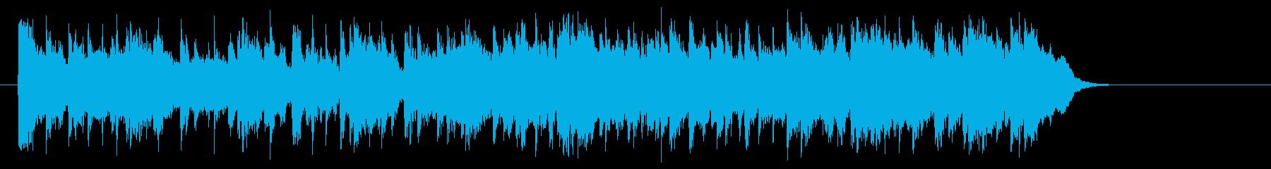 安心感のあるフュージョン(Aメロ~サビ)の再生済みの波形