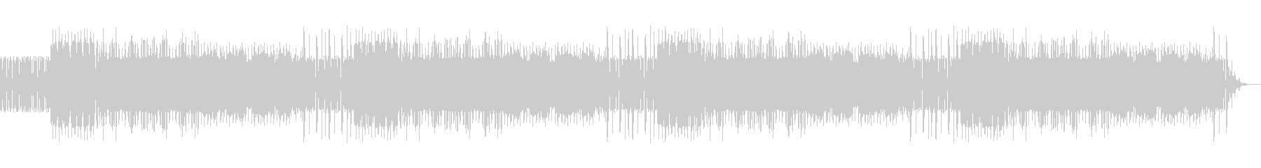 ファミコン風な短調の高揚感のあるBGMの未再生の波形