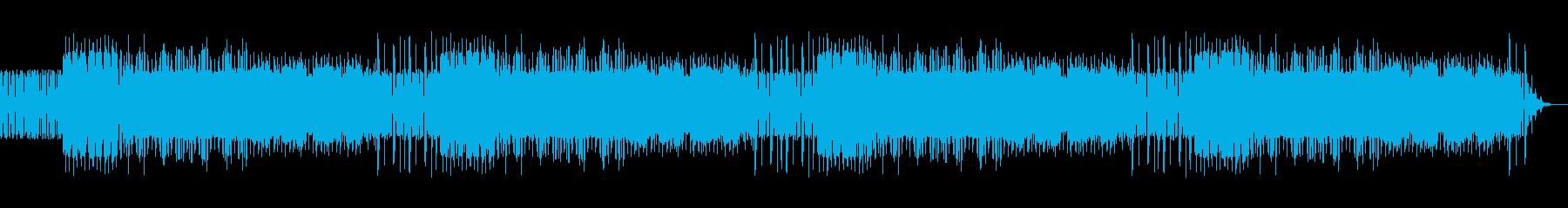 ファミコン風な短調の高揚感のあるBGMの再生済みの波形