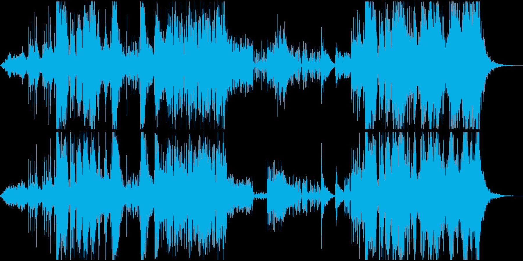 アクション・サスペンス映画の予告編の音楽の再生済みの波形