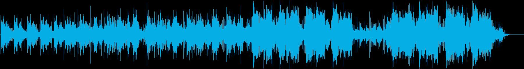 神秘的なヒーリングBGMミュージックの再生済みの波形