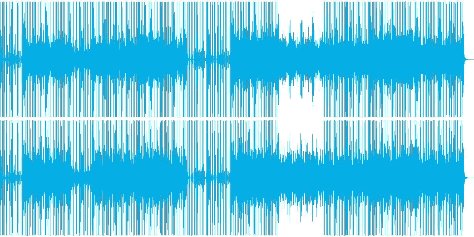 暗い雰囲気のHipHopトラックの再生済みの波形