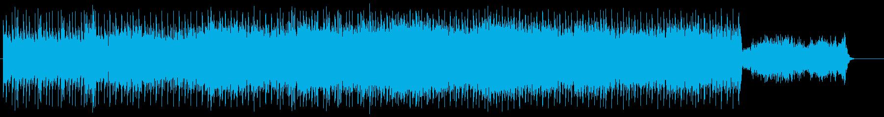 前衛的でダンサブルなテクノ/BGの再生済みの波形
