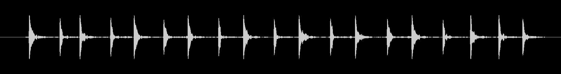 生演奏 テケテケテケ 小人が走る音 #2の未再生の波形