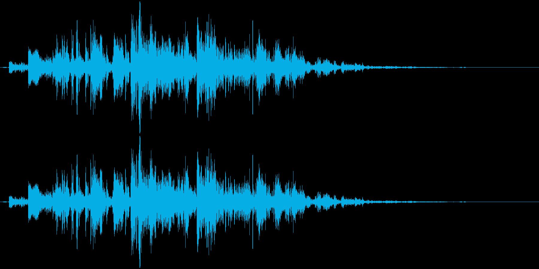 鎖を動かす音11【短い】の再生済みの波形