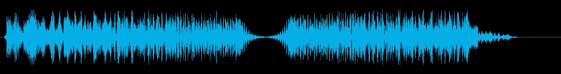 アップダウン(コミカル)の再生済みの波形