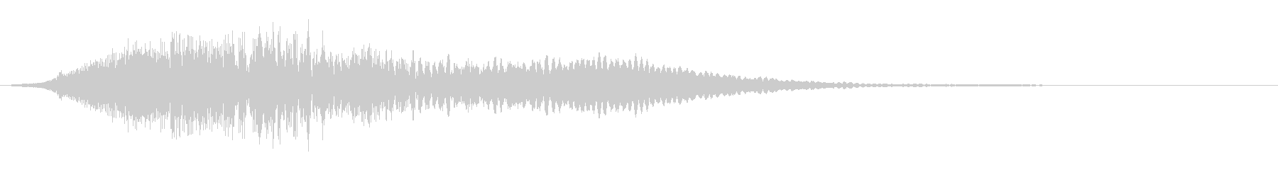 【ホラー】スリル SE_05 場面転換の未再生の波形