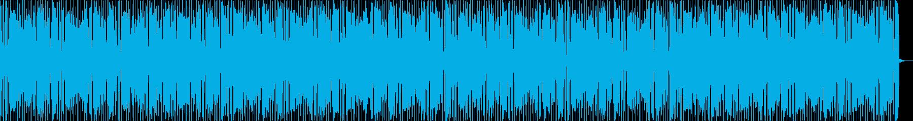 ベースとワウギターが印象的なファンクの再生済みの波形