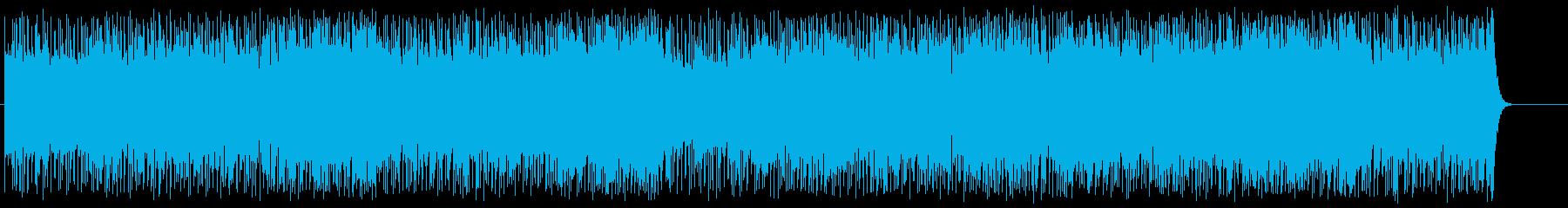 アップテンポのいたずらなポップスの再生済みの波形