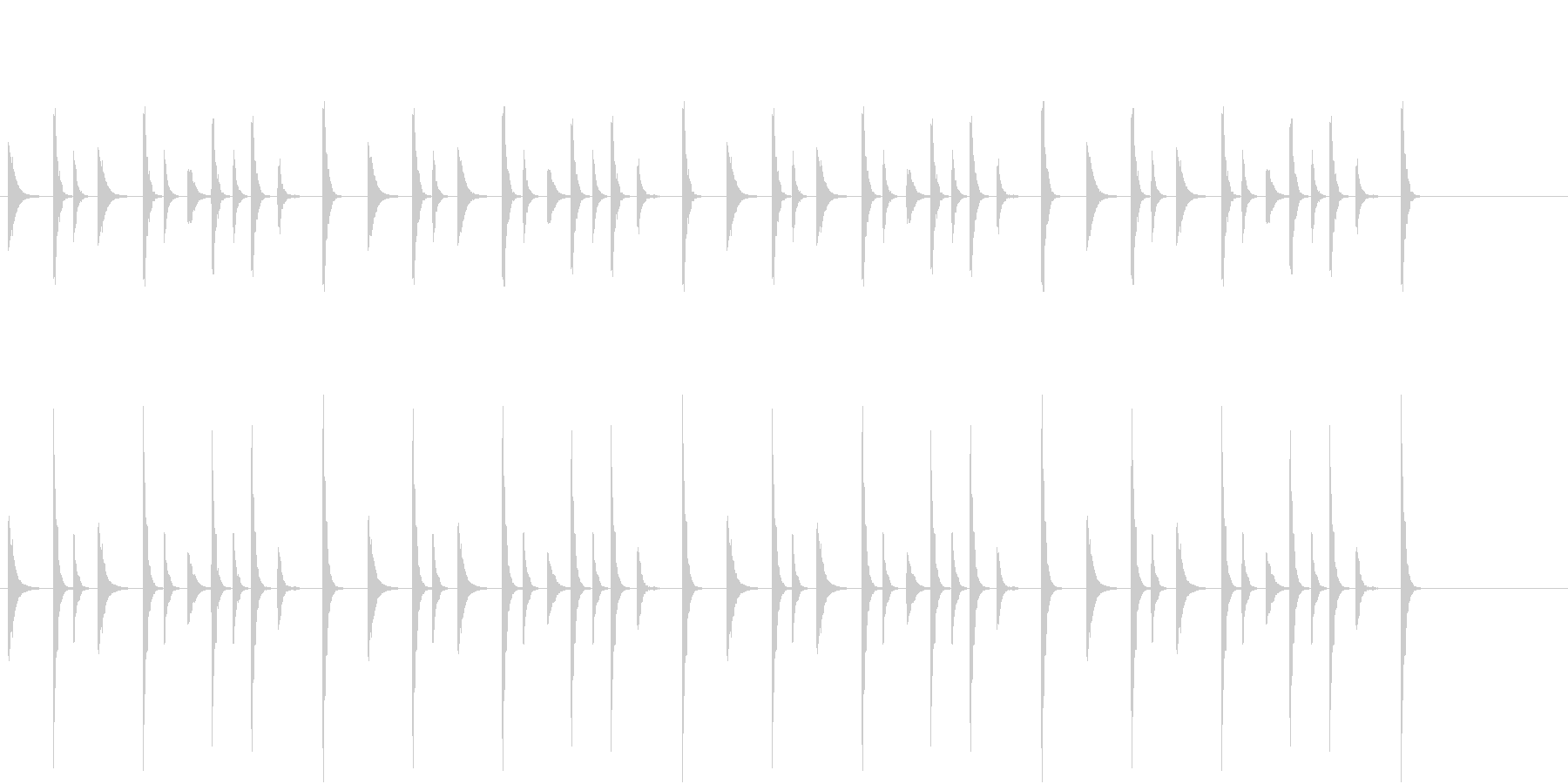お囃子祭りの軽快なコンチキのフレーズ音の未再生の波形