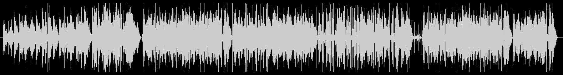 ジングルベル ピアノメインのジャズの未再生の波形