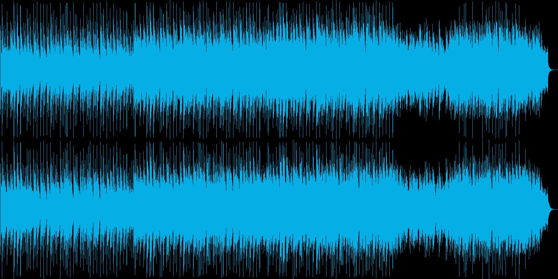 長閑で安らぐ和風BGMの再生済みの波形