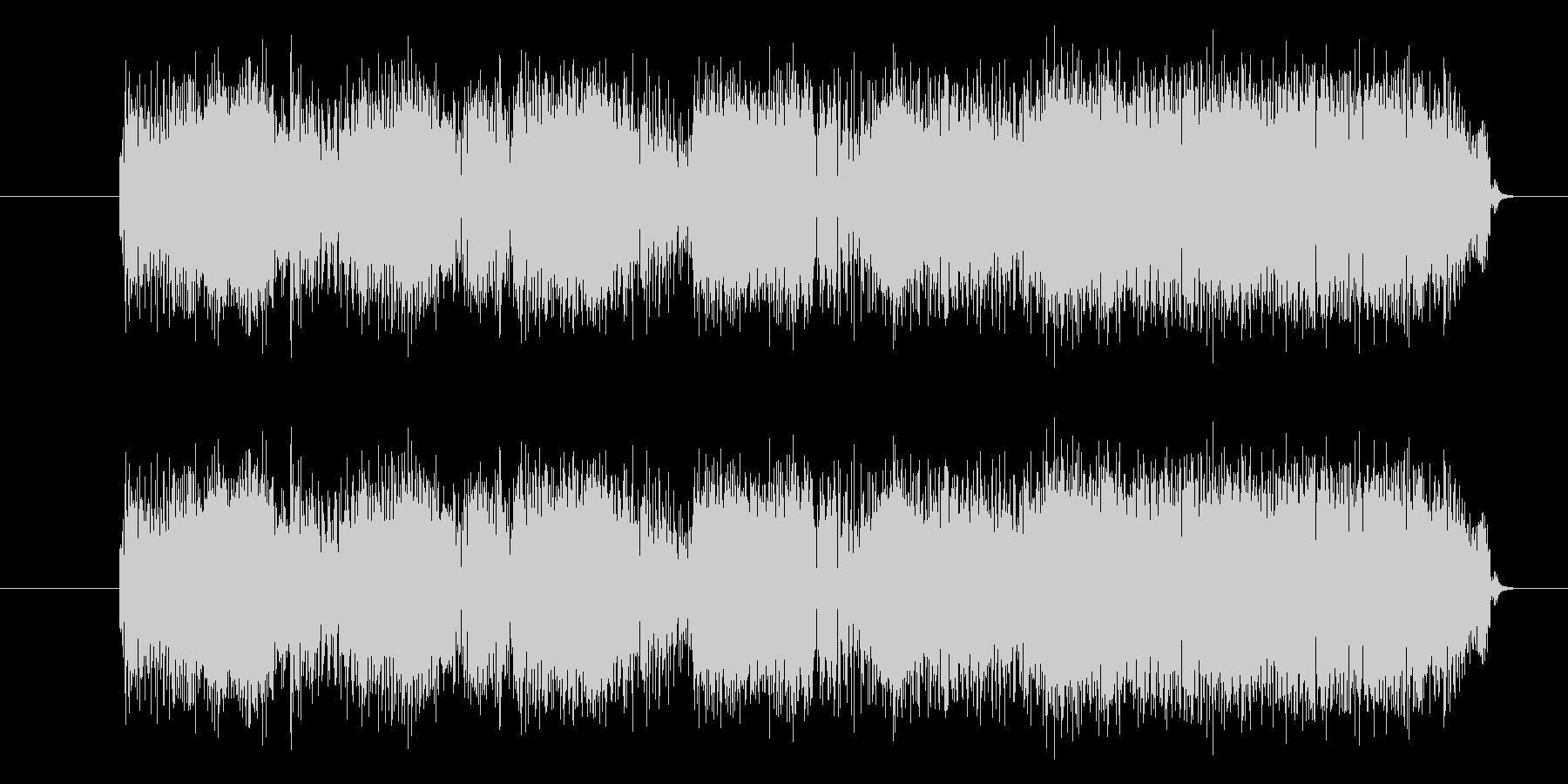 ロックなエレキギターのフレーズジングルの未再生の波形