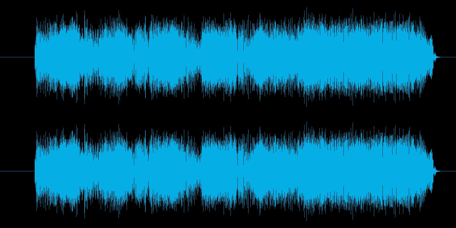 ロックなエレキギターのフレーズジングルの再生済みの波形
