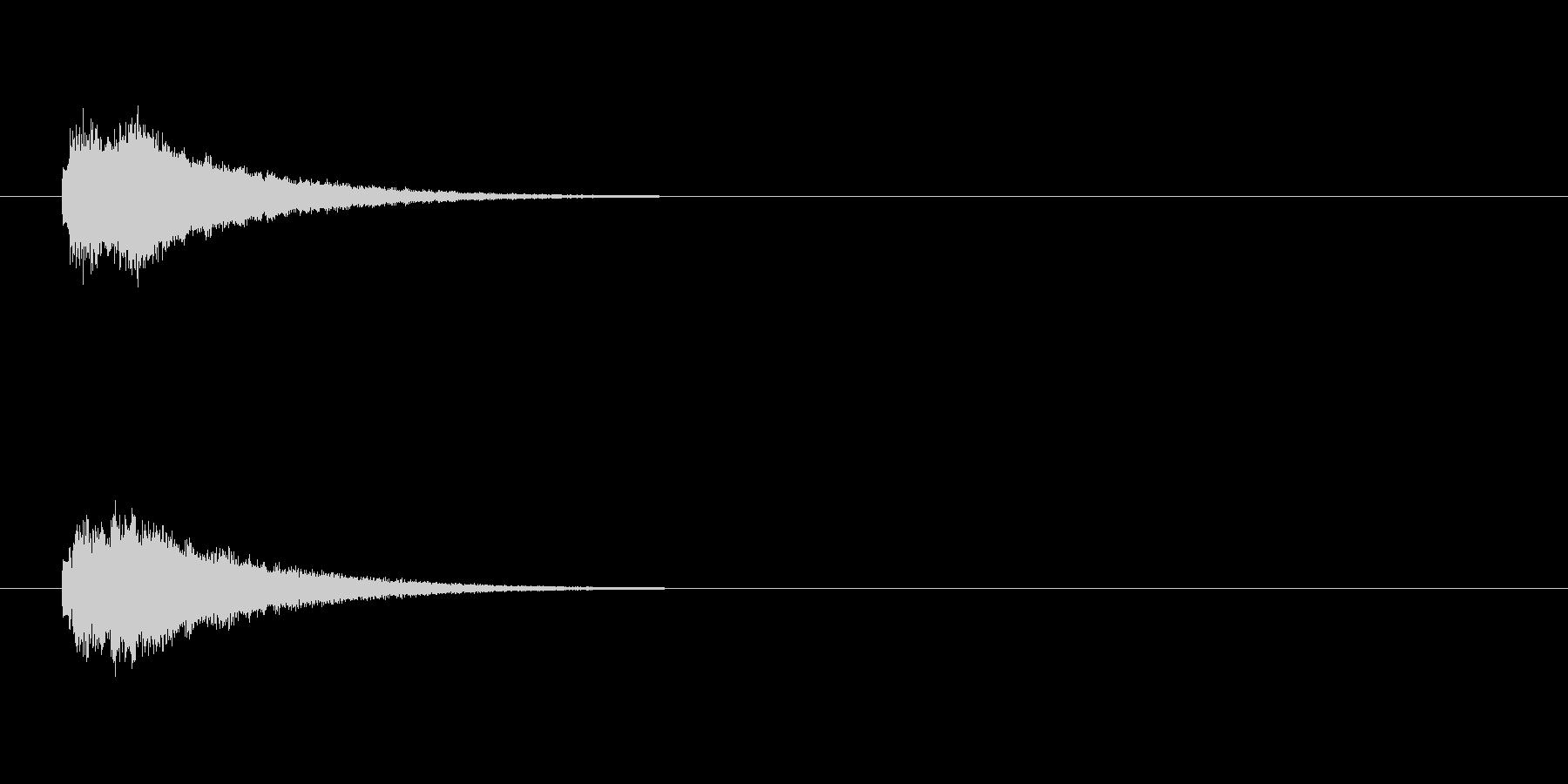 テロップの音・決定音・テロローンの未再生の波形