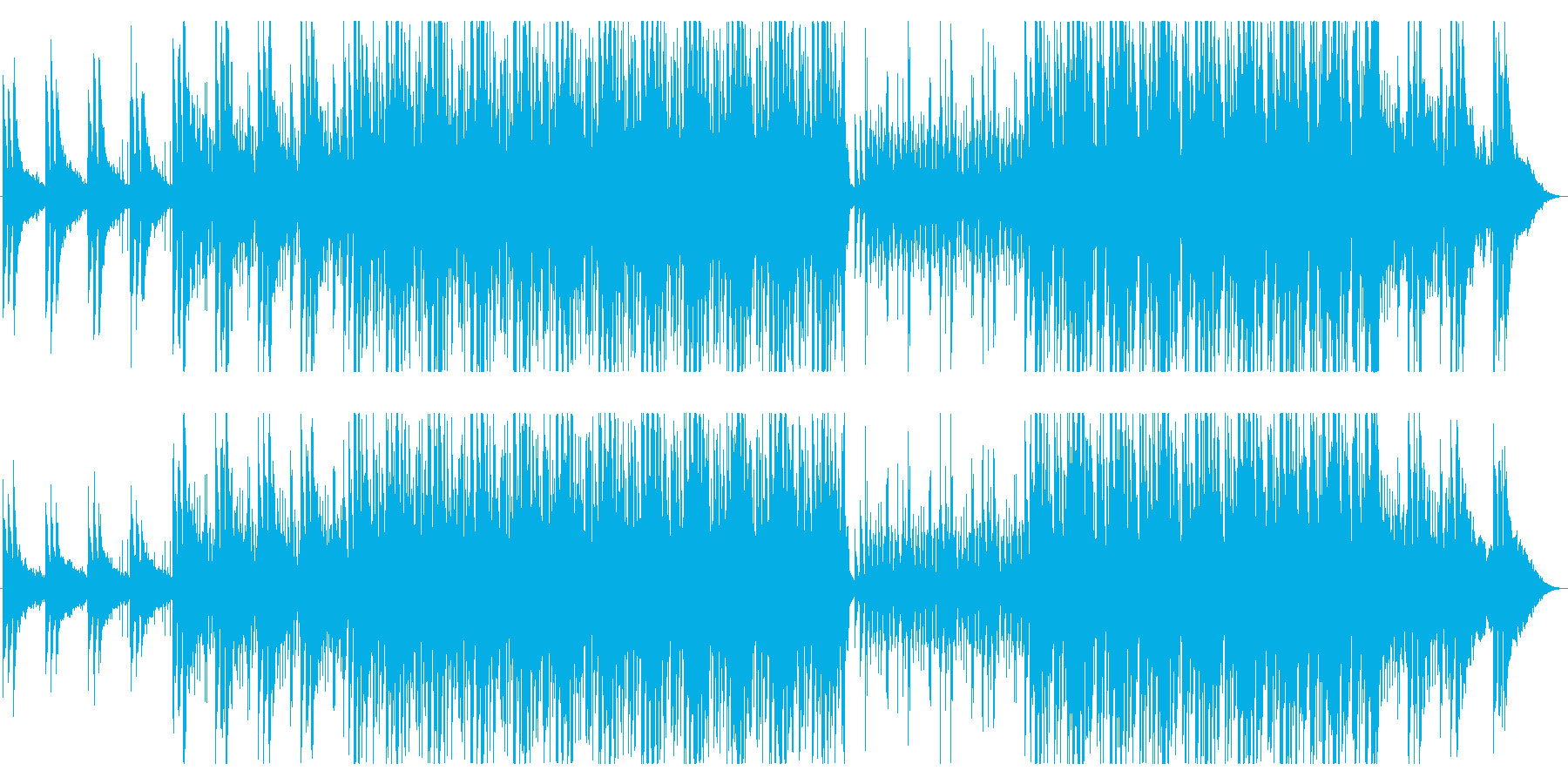 哀愁漂う和風旋律のブレイクビーツの再生済みの波形