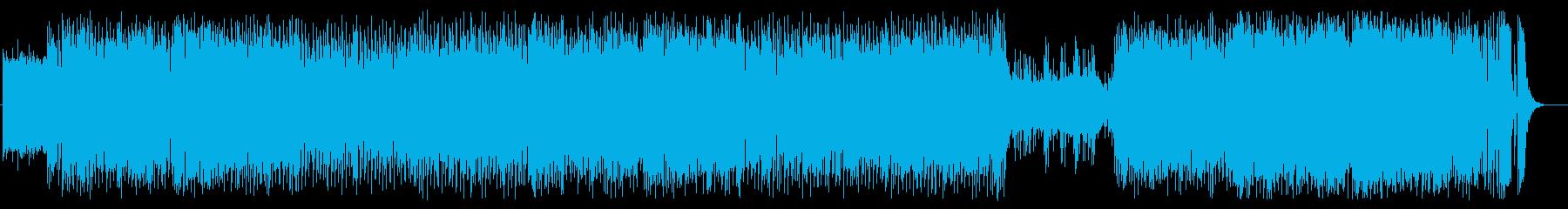 疾走感のシンセ・ギターなどの曲の再生済みの波形