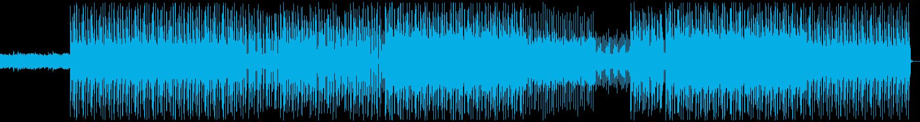 マリンバが印象的アクションゲーム風BGMの再生済みの波形
