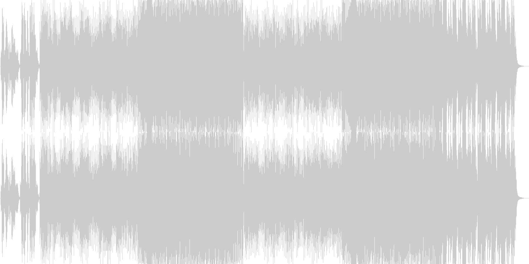 EDM 女性ヴォーカルの未再生の波形