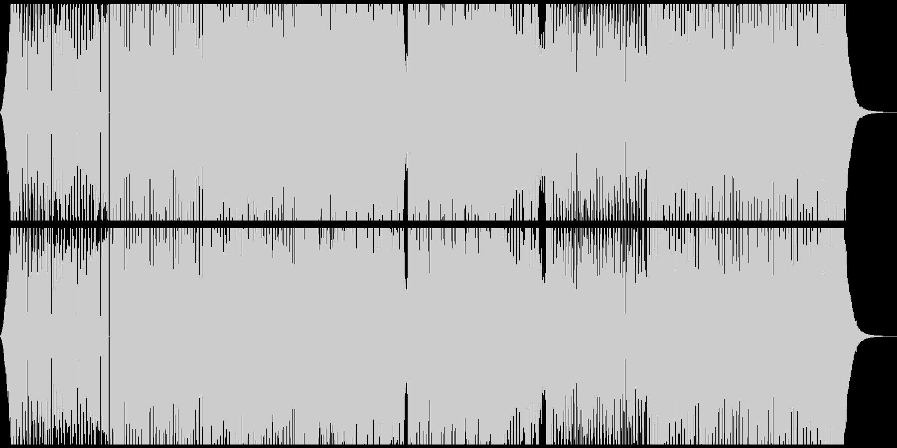 エッジの効いたダンサブルなエレクトロの未再生の波形