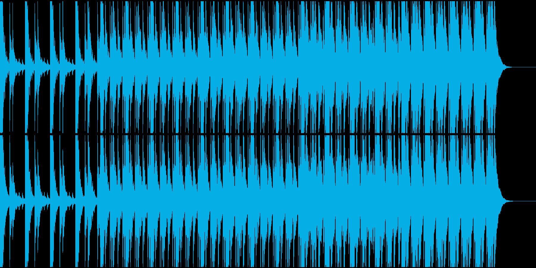厳かな和太鼓メインのリズム楽曲の再生済みの波形