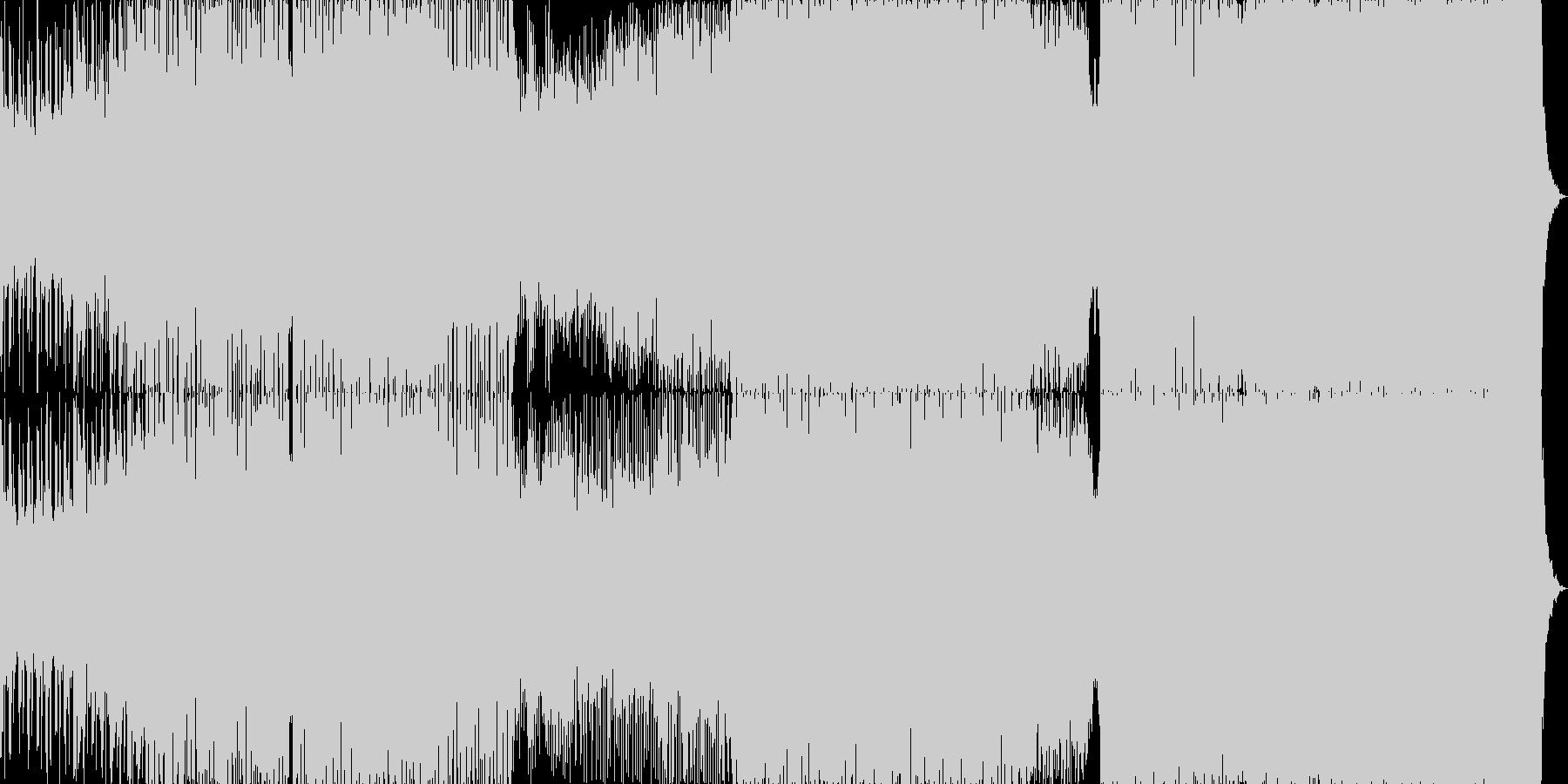 エレクトロ 技術的な 繰り返しの ...の未再生の波形