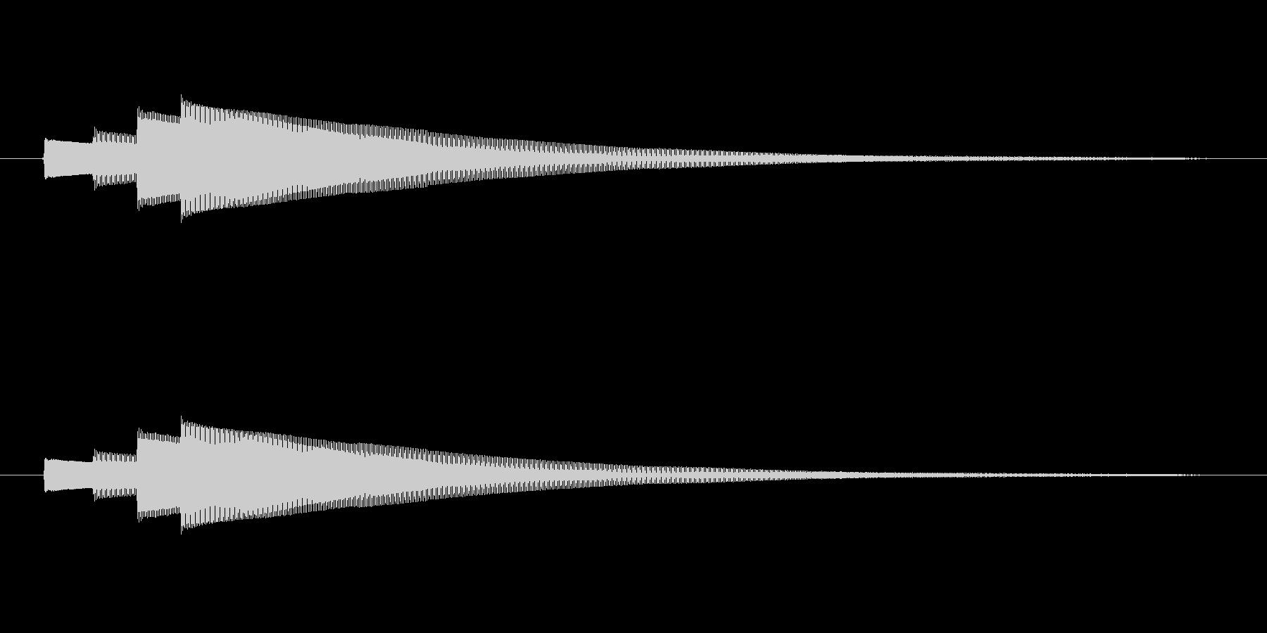始めピンポンパンポン (早い)の未再生の波形