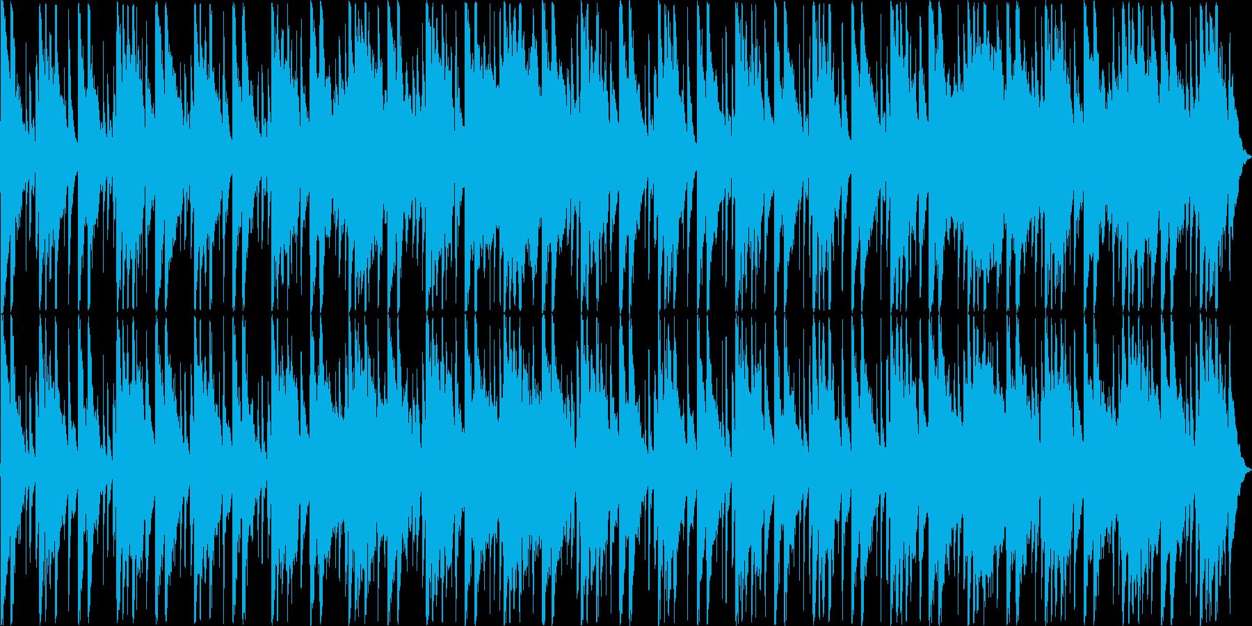 和楽器で構成された祭り囃子の再生済みの波形