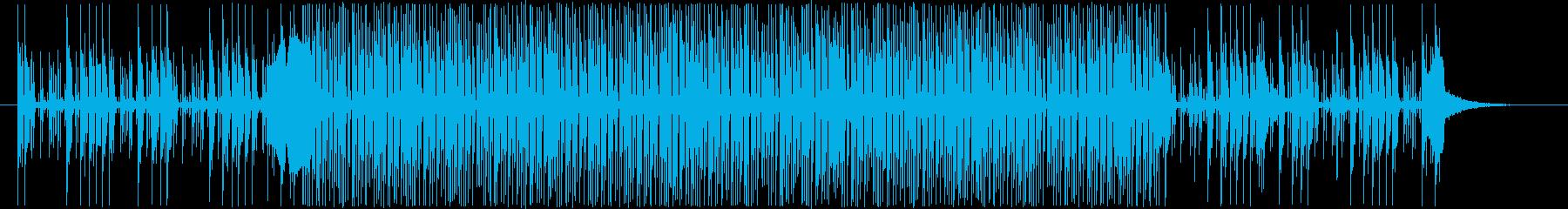 あやしい、暗め、謎、シンセ系BGMの再生済みの波形