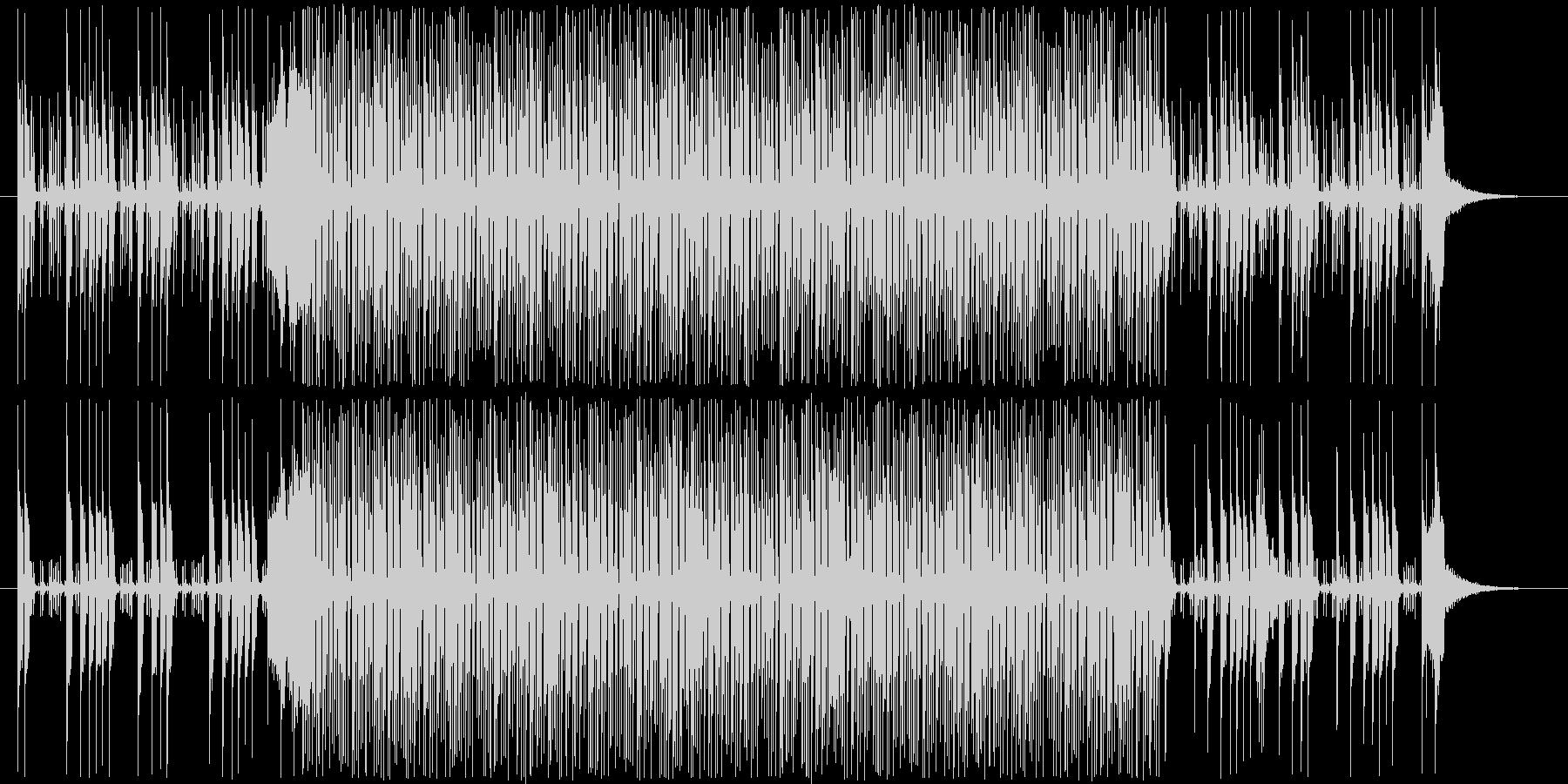 あやしい、暗め、謎、シンセ系BGMの未再生の波形
